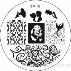 Диск для стемпинга BP 15 BornPretty фото ногти | PRO-VSE