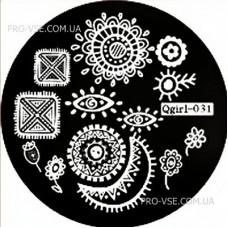 Диск для стемпинга Qgirl-031