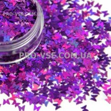 Бабочки Фиолетовый голографический
