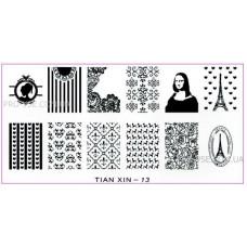 Пластина для стемпинга TIAN XIN - 13