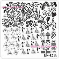 Пластина для стемпинга Bundle Monster BM-S214 квадратная фото| PRO-VSE