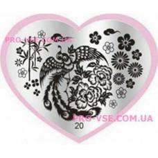 Пластина LOVE Heart 20