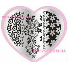 Пластина LOVE Heart 07
