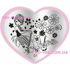 Пластина LOVE Heart 01