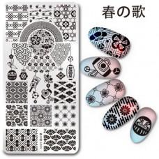 Пластина для стемпинга Harunouta L025 фото   PRO-VSE