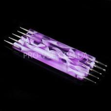 Набор дотсов, 5 инструментов, фиолетовый