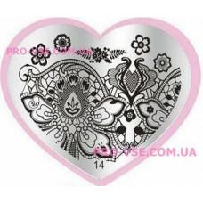 Пластина LOVE Heart 14