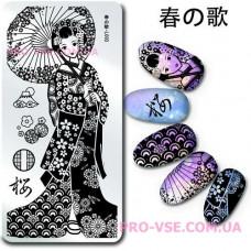 Пластина для стемпинга Harunouta L003 фото | PRO-VSE