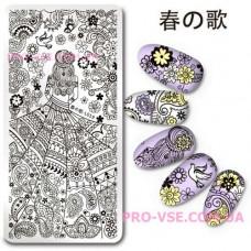 Пластина для стемпинга Harunouta L019 фото | PRO-VSE