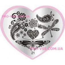 Пластина LOVE Heart 21