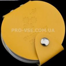 Органайзер для дисков круглый желтый 24
