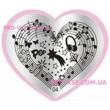 Пластина LOVE Heart 04