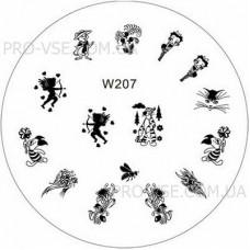 Диск для стемпинга W 207 фото | PRO-VSE