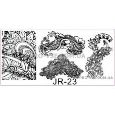 Пластина для стемпинга JR-23 фото | PRO-VSE