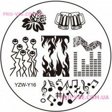 Диск для стемпинга YZW-Y-16 фото | PRO-VSE
