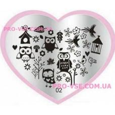 Пластина LOVE Heart 02