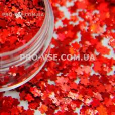 Блестки Цветы Красный