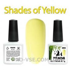 Гель-лак PANDA 051 (пастельный желтый) 8.7г фото