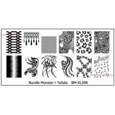 Пластина для стемпинга Bundle Monster BM-XL208 фото| PRO-VSE