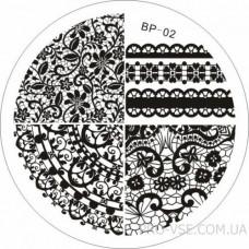 Диск для стемпинга BP 02 BornPretty фото ногти | PRO-VSE