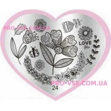 Пластина LOVE Heart 24