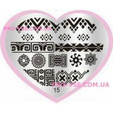 Пластина LOVE Heart 15