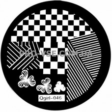 Диск для стемпинга Qgirl-046
