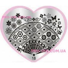 Пластина LOVE Heart 18
